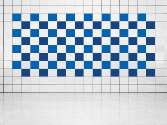 Fliesenaufkleber Ultramarinblau (A752) und Blau (A733) 20er Set