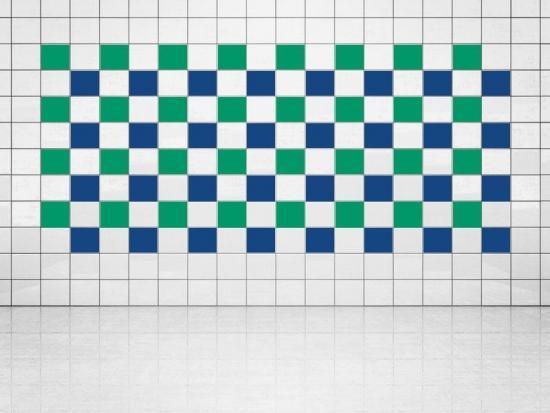 Fliesenaufkleber Ultramarinblau (A752) und Grün (A756) 20er Set