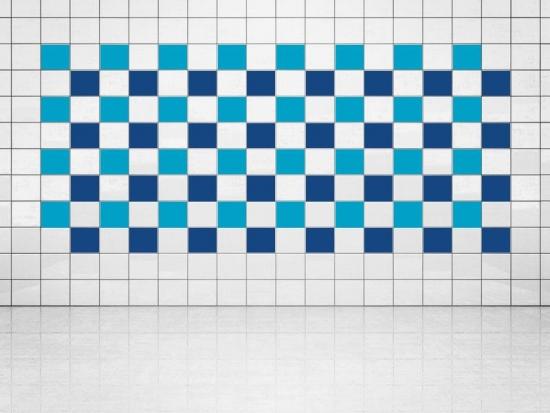 Fliesenaufkleber Ultramarinblau (A752) und Himmelblau (A784) 20er Set