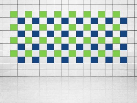 Fliesenaufkleber Ultramarinblau (A752) und Lindgrün (A714-01) 20er Set