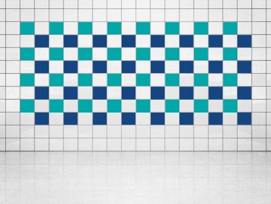 Fliesenaufkleber Ultramarinblau (A752) und Türkis (A731) 20er Set