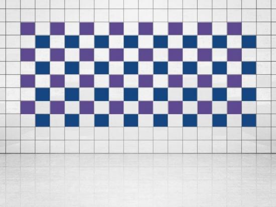 Fliesenaufkleber Ultramarinblau (A752) und Violett (A717) 20er Set