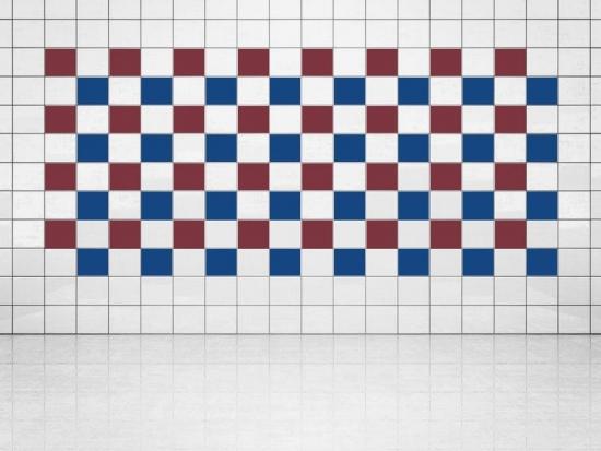 Fliesenaufkleber Ultramarinblau (A752) und Weinrot (A778) 20er Set