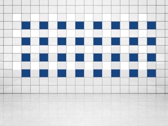 Fliesenaufkleber Ultramarinblau (A752) und Weiss (A700) 20er Set