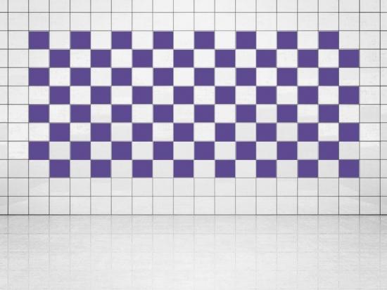 Fliesenaufkleber Violett (A717) 20er Set