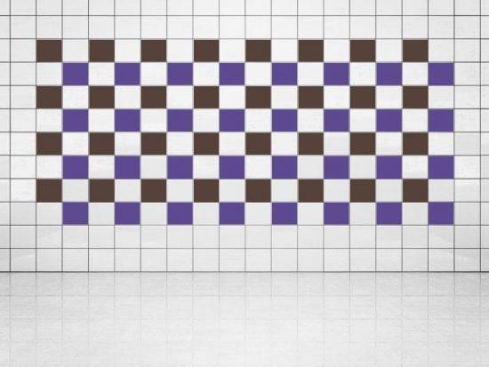 Fliesenaufkleber Violett (A717) und Rehbraun (A777-049) 20er Set