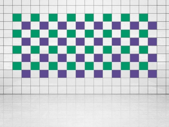 Fliesenaufkleber Violett (A717) und Grün (A756) 20er Set