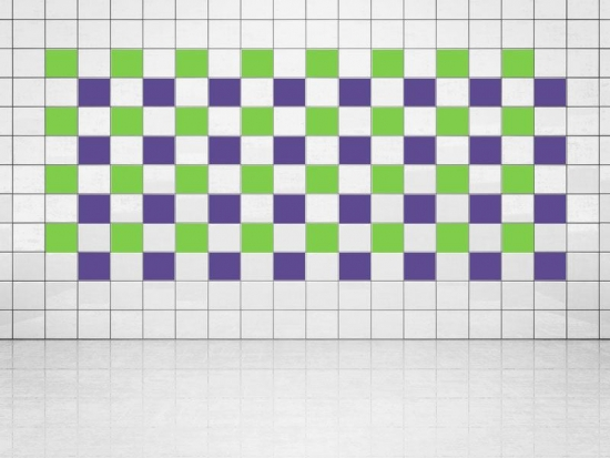Fliesenaufkleber Violett (A717) und Lindgrün (A714-01) 20er Set