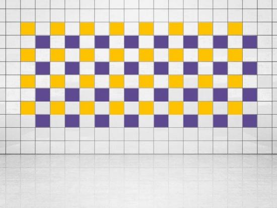 Fliesenaufkleber Violett (A717) und Sonnengelb (A706-01) 20er Set