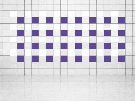 Fliesenaufkleber Violett (A717) und Weiss (A700) 20er Set
