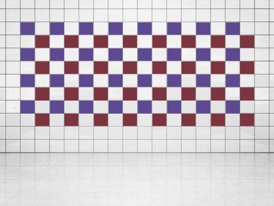 Fliesenaufkleber Weinrot (A778) und Violett (A717) 20er Set