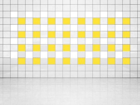 Fliesenaufkleber Primelgelb (A707) und Weiss (A700) 20er Set