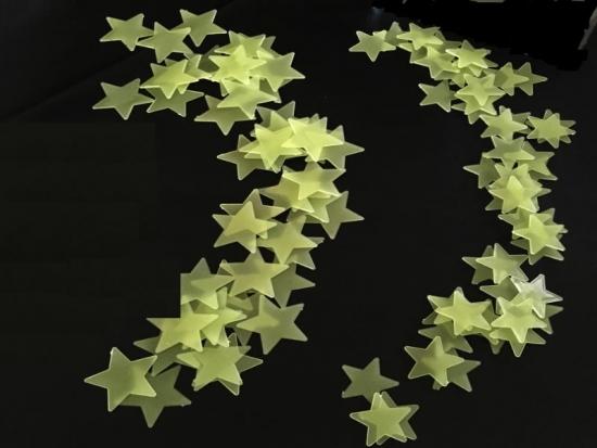 Gelbe Leuchtsterne