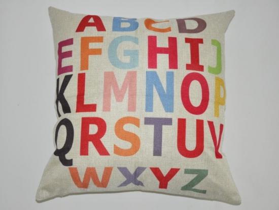 Kissenbezug Alphabet