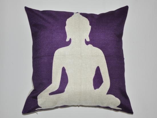 Kissenbezug Buddha Lila