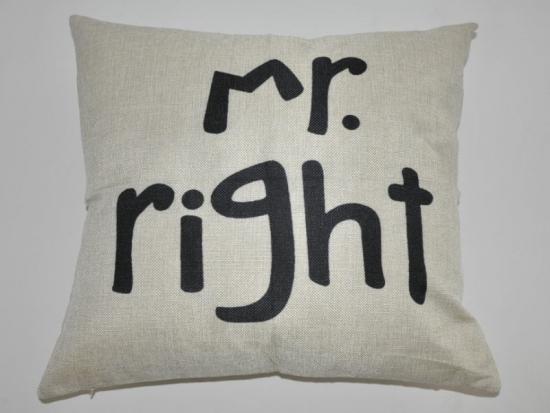 Kissenbezug Mr. Right