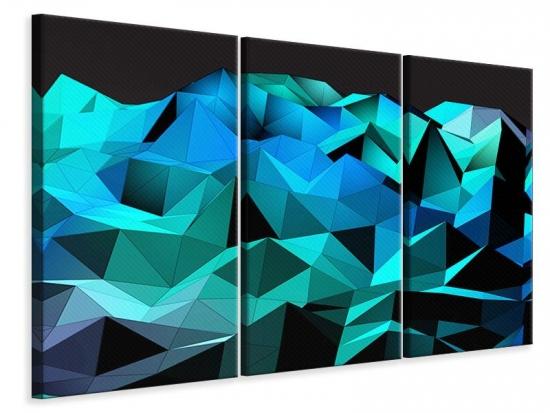 Leinwandbild 3-teilig 3D-Diamonds