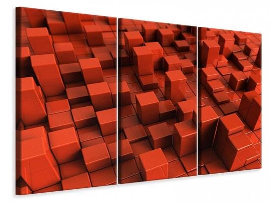Leinwandbild 3-teilig 3D-Rechtkant
