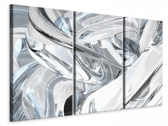 Leinwandbild 3-teilig Abstrakte Glasbahnen
