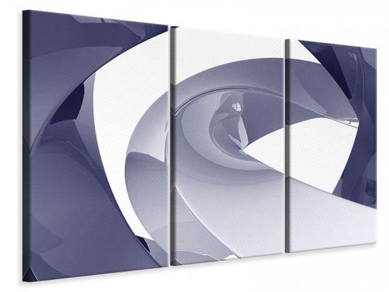 Leinwandbild 3-teilig Abstrakte Schwingungen