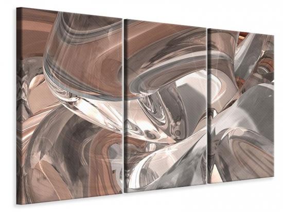 Leinwandbild 3-teilig Abstraktes Glasfliessen