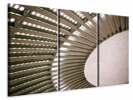 Leinwandbild 3-teilig Abstraktes Rad