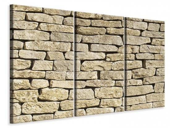 Leinwandbild 3-teilig Alte Mauer