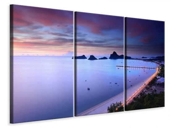 Leinwandbild 3-teilig Ano Manao Bucht