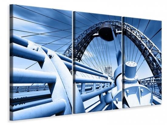 Leinwandbild 3-teilig Avantgardistische Hängebrücke