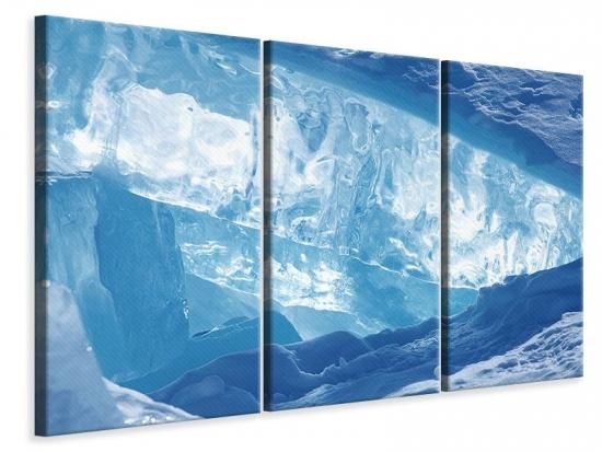 Leinwandbild 3-teilig Baikalsee-Eis