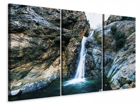 Leinwandbild 3-teilig Bewegtes Wasser