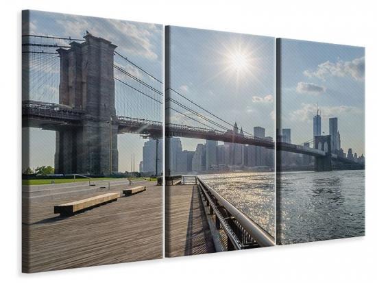 Leinwandbild 3-teilig Brooklyn Bridge