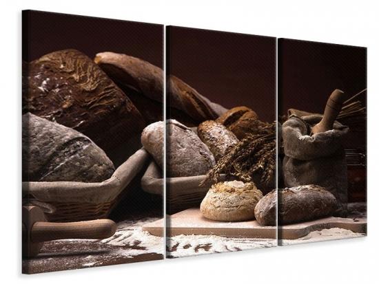 Leinwandbild 3-teilig Brotbäckerei