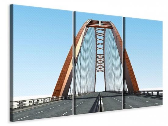 Leinwandbild 3-teilig Brückenpanorama