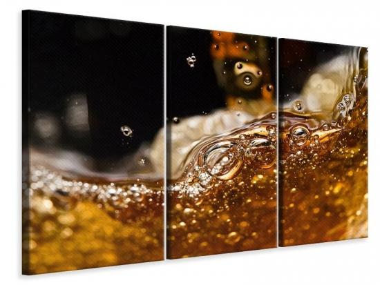 Leinwandbild 3-teilig Cognac