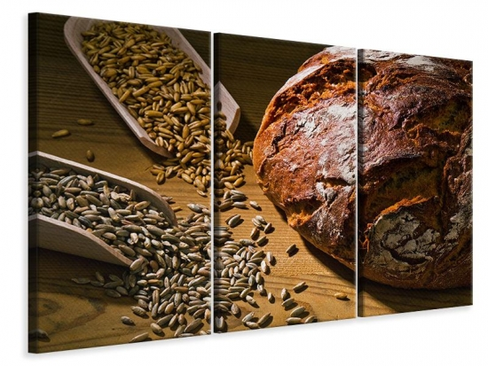 Leinwandbild 3-teilig Das Brot