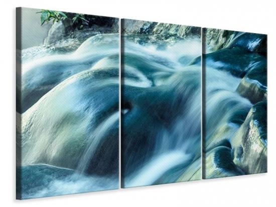 Leinwandbild 3-teilig Das Fliessende Wasser