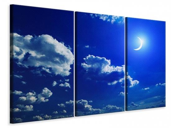 Leinwandbild 3-teilig Der Mond
