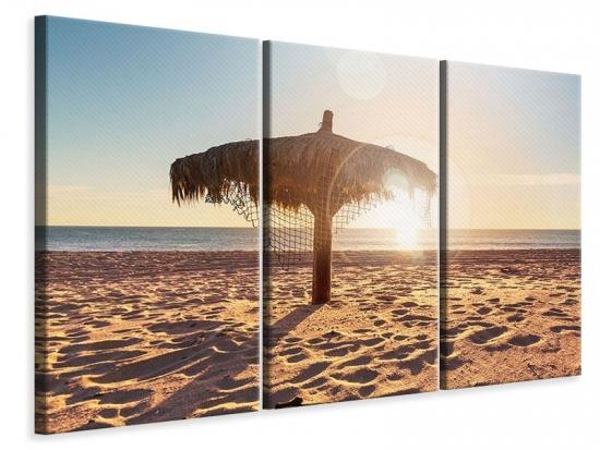 Leinwandbild 3-teilig Der Sonnenschirm