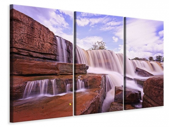 Leinwandbild 3-teilig Himmlischer Wasserfall