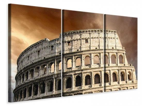 Leinwandbild 3-teilig Kolosseum Rom