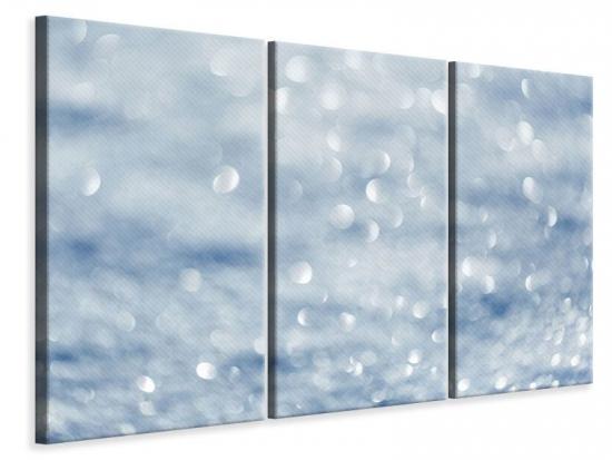 Leinwandbild 3-teilig Kristallglanz