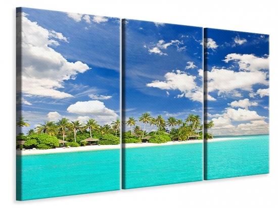 Leinwandbild 3-teilig Meine Insel