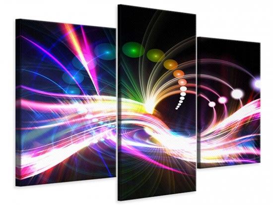 Leinwandbild 3-teilig modern Abstrakte Lichtreflexe
