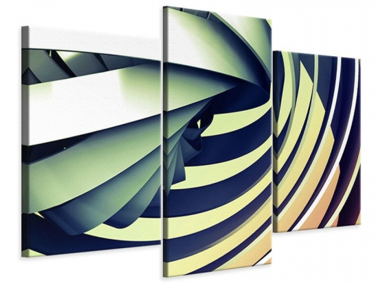 Leinwandbild 3-teilig modern Abstrakte Perspektiven