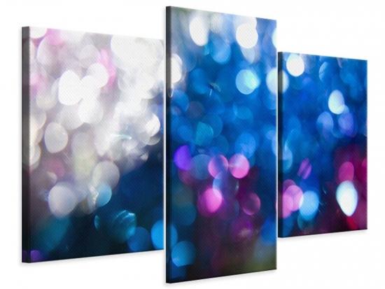 Leinwandbild 3-teilig modern Abstraktes Licht