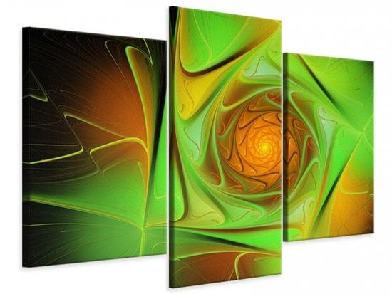 Leinwandbild 3-teilig modern Abstraktionen 120 x 80 cm Aussenmass|(1 x 40x80 cm, 2 x 40x60 cm)