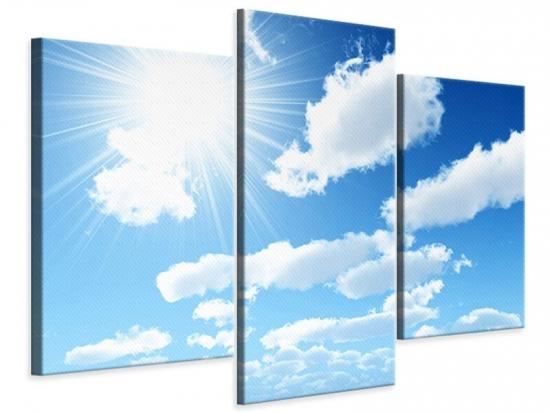 Leinwandbild 3-teilig modern Am Himmel
