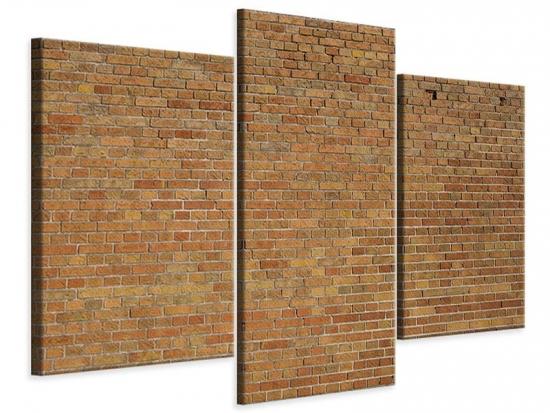 Leinwandbild 3-teilig modern Backsteinhintergrund
