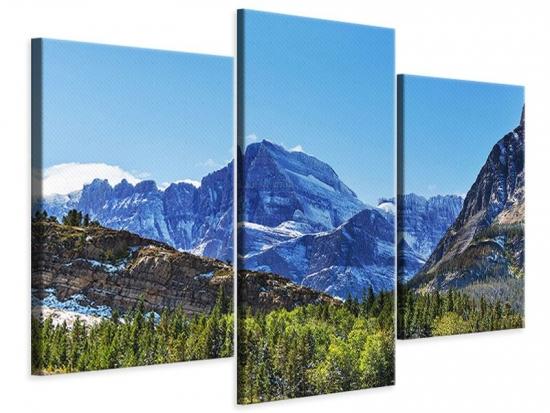 Leinwandbild 3-teilig modern Dem Gipfel entgegen